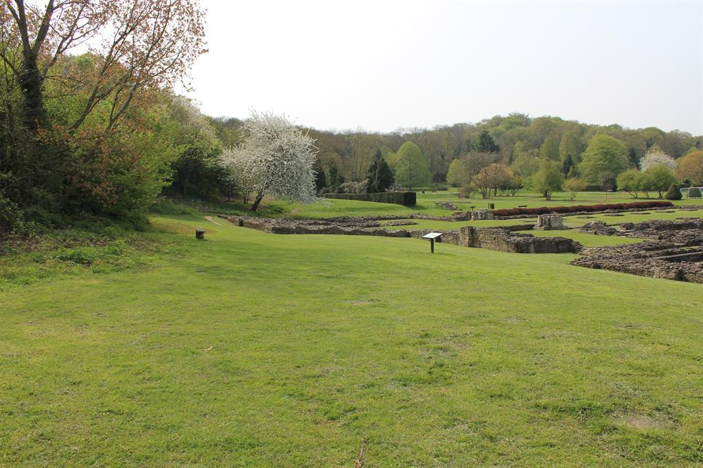 Lesnes Abbey near by