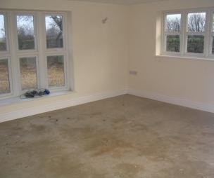 photo of bare beige white with bay window