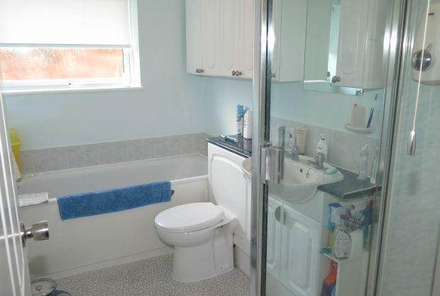 Bathroom with shower & bath
