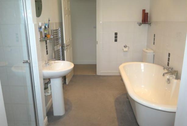 Large Family Bathroom with shower & bath