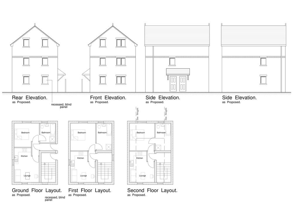 Proposed 3 Flats