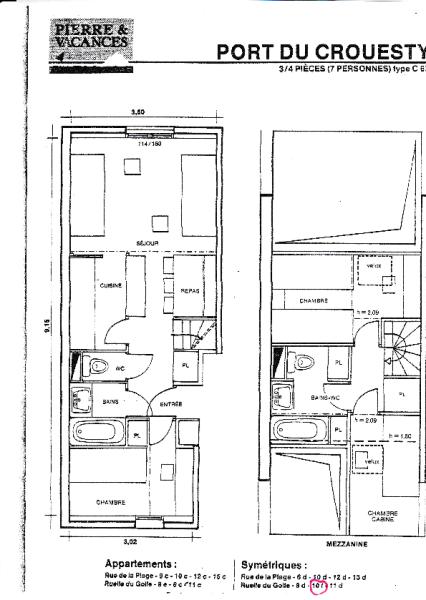 Plan od duplex apart
