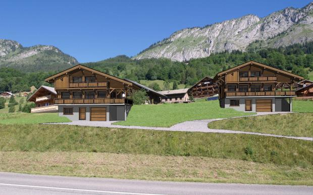 The two chalets for