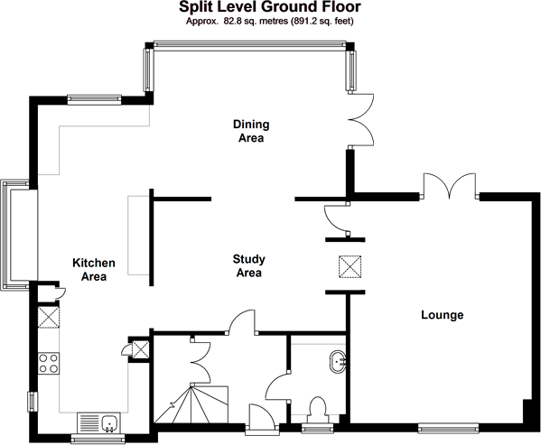 Split-level ground Floor