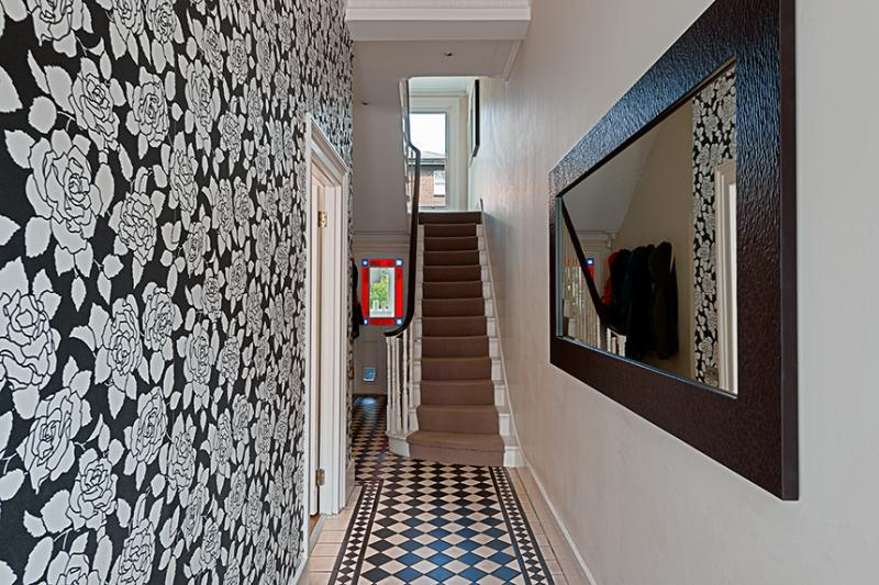Black white hallway design ideas photos inspiration Hallway colour scheme ideas