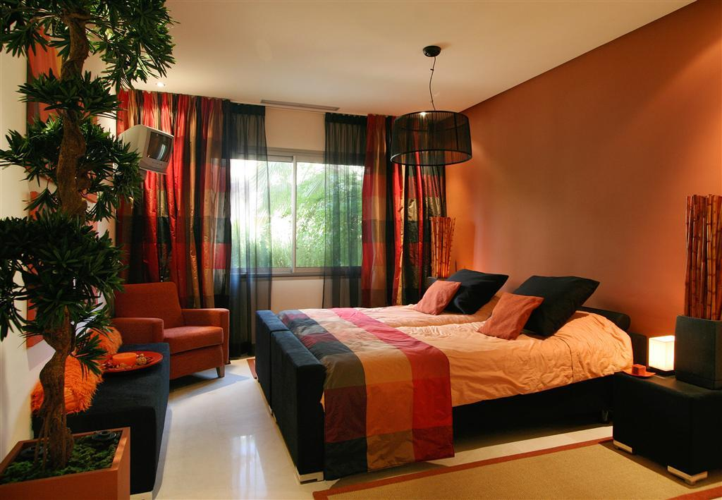 olive orange bedroom design ideas photos inspiration