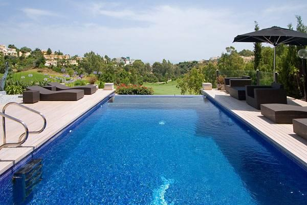 Pool and views south