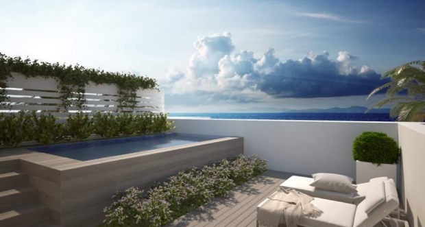 Roof terrace, views