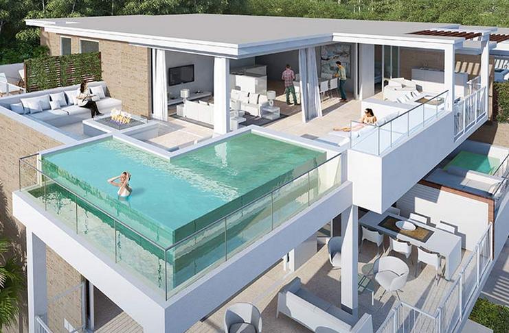 Pool on terrace