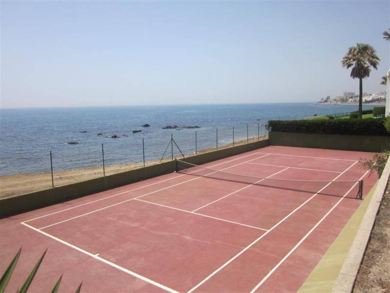 Tennis on beach