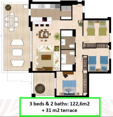 3 bed plan