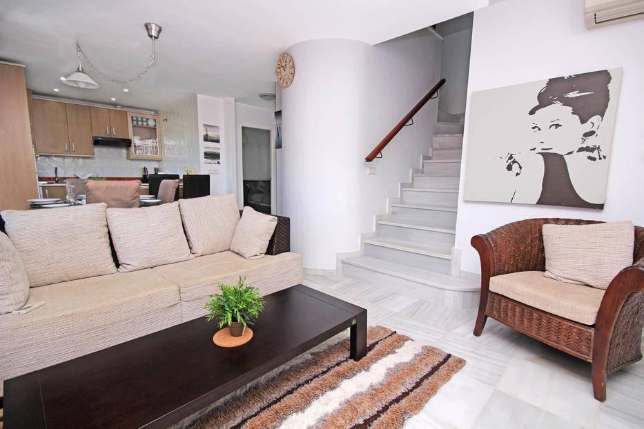 Staircase to lounge