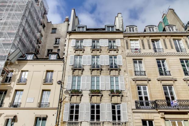 Facade Saint Germain des pres Luxembourg Gates Paris