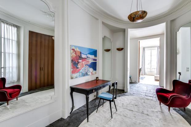 Hallway stone floor mirror Saint Germain des pres Luxembourg Gates Paris