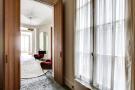 Hallway stone floor wooden doors Saint Germain des pres Luxembourg Gates Paris