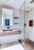 Bathroom tiles marble shower Saint Germain des pres Luxembourg Gates Paris