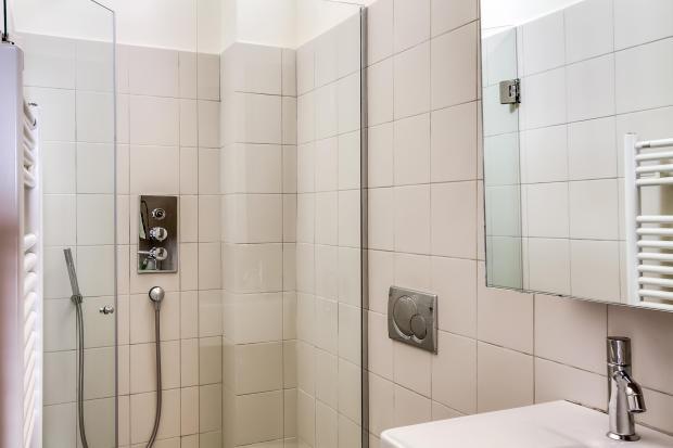 Bathroom tiles shower Saint Germain des pres Luxembourg Gates Paris