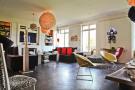 Large modern living room parquet flooring Etoile Avenue President Wilson Paris