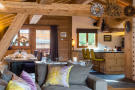 Interiors and kitchen at Chalet Vermont in Verbier