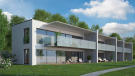 External CGI of Phase C 2 storey apartments at Les Terrasses by Lac Lemán