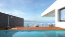 Rooftop pool and decking CGI for penthouse apartment at Les Terrasses overlooking Lac Lemán