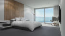 Guest bedroom CGI at Les Terrasses with views over Lake Geneva