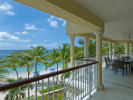 Beachfront apartment terrace at The Landings in St Lucia