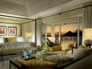 Beachfront Grand Villa penthouse living room at The Landings in St Lucia