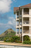 Apartment building facade at The Landings in St Lucia