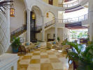 Vaulted lobby of hotel at The Landings in St Lucia