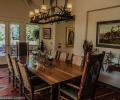 Dining room wood floor chandelier EE-DA-HO Ranch Arizona