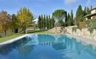 Swimming pool garden rock Tenuta Cipressino Tuscany