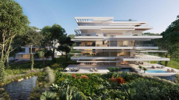 Extrovert building facade Ashjar Al Barari Dubai
