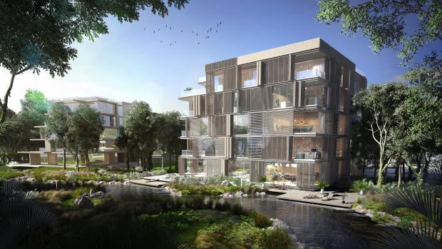 Introvert building facade Ashjar Al Barari Dubai