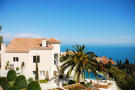 Main house view palm tree Villa Surram Theoule-sur-Mer Cote d'Azur