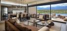 Living room kitchen open plan breakfast bar stone floor Vines of Mendoza Resort Villas Argentina