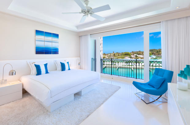 Bedroom master sliding doors balcony Port Ferdinand Barbados