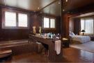 Bathroom ensuite bath tub tiled The Penthouse Av de Pau Casals Barcelona