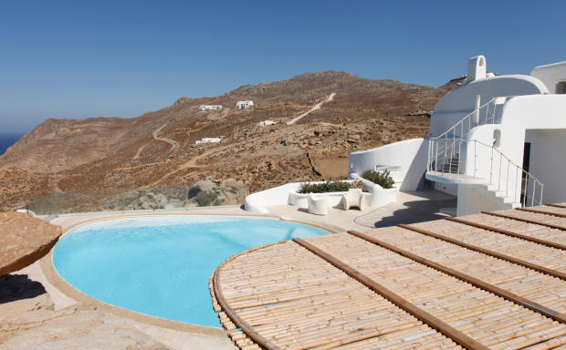 Swimming pool view Fanari Mykonos