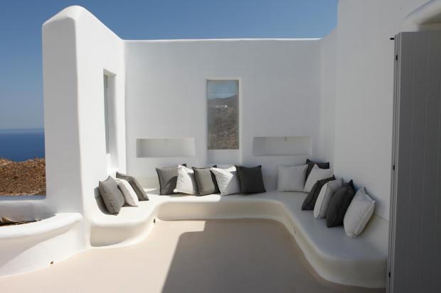 Outdoor seating area Fanari Mykonos