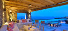 Covered terrace ocean sea view sitting area Lia Mykonos
