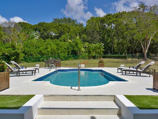Swimming pool sun terrace Sand Box at Sandy Lane Barbados