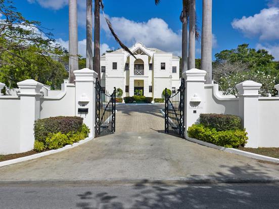 Entrance driveway Sand Box at Sandy Lane Barbados