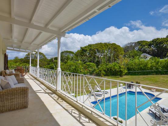 Balcony railings swimming pool Sand Box at Sandy Lane Barbados