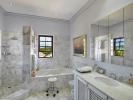 Bathroom marble bath tub shower Sand Box at Sandy Lane Barbados
