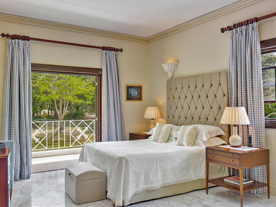 Bedroom master marble floor balcony doors Sand Box at Sandy Lane Barbados