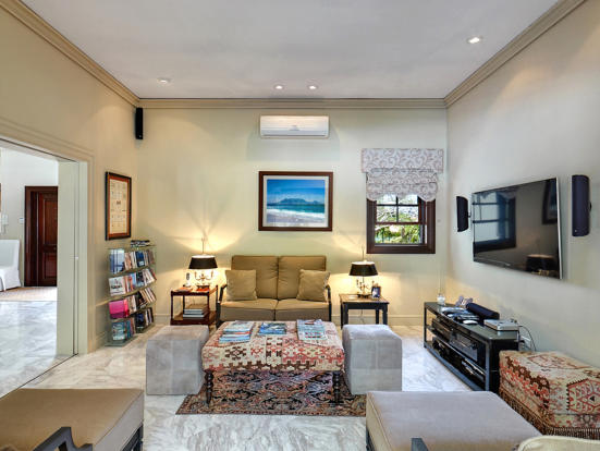 Living room marble floor Sand Box at Sandy Lane Barbados