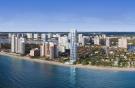 Aerial facade beach Regalia Miami Florida