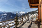 Balcony view mountains Chalet Feuille d'Erable Verbier
