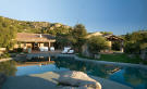 Rear facade swimming pool terrace Villa Ross Sardinia